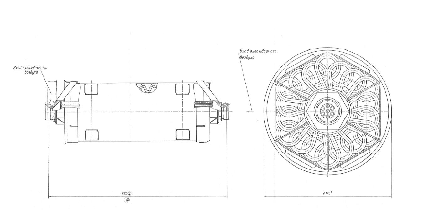 Расчет авиационного воздухо-воздушного теплообменника оксигенатор мембранный половолоконный и теплообменник